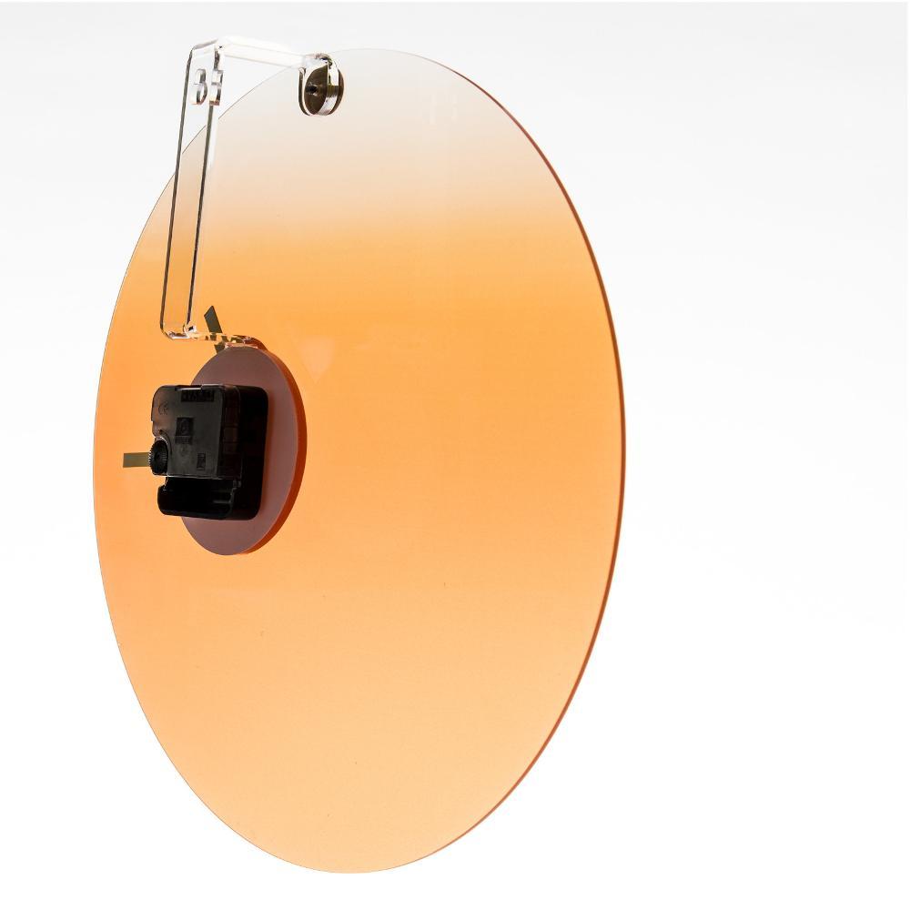 Orologio da parete in plexigas movimento al quarzo HIDE TIME Ø35x4 cm Arancio...