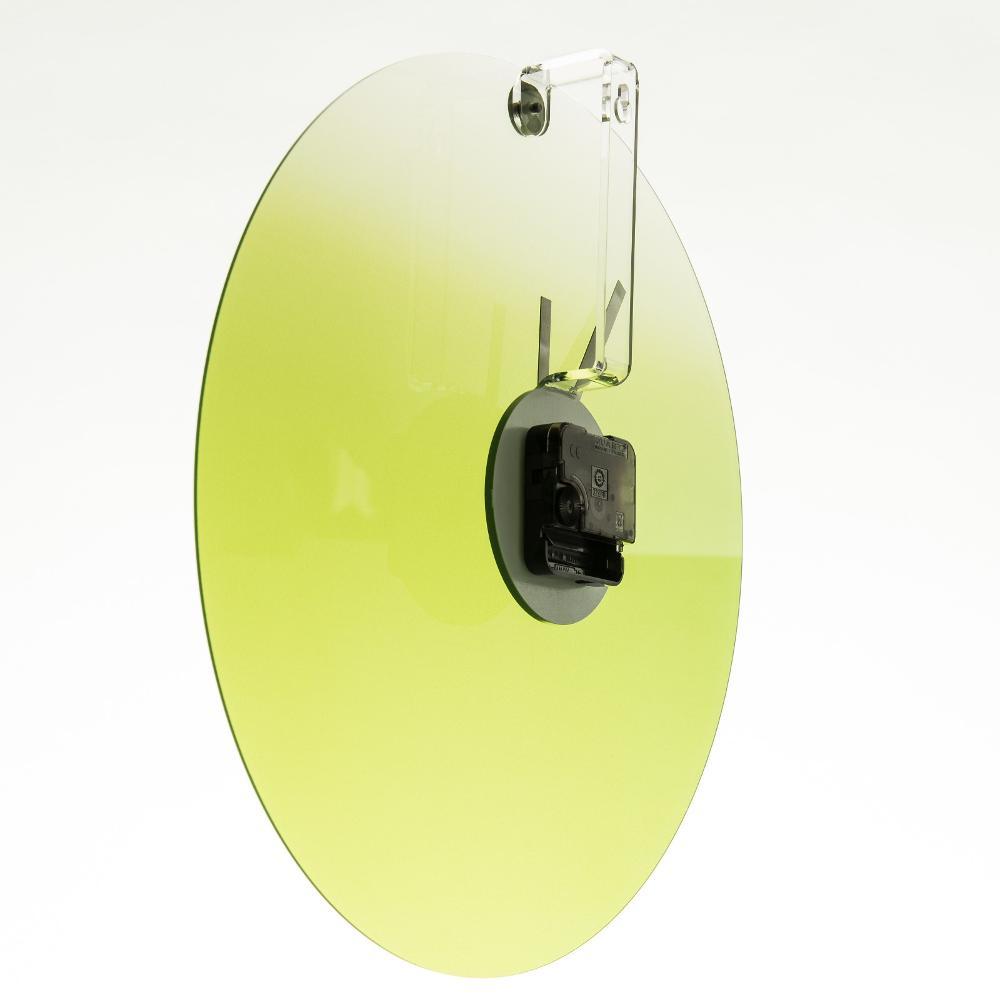 Orologio da parete in plexigas movimento al quarzo HIDE TIME Ø35x4 cm Verde ...