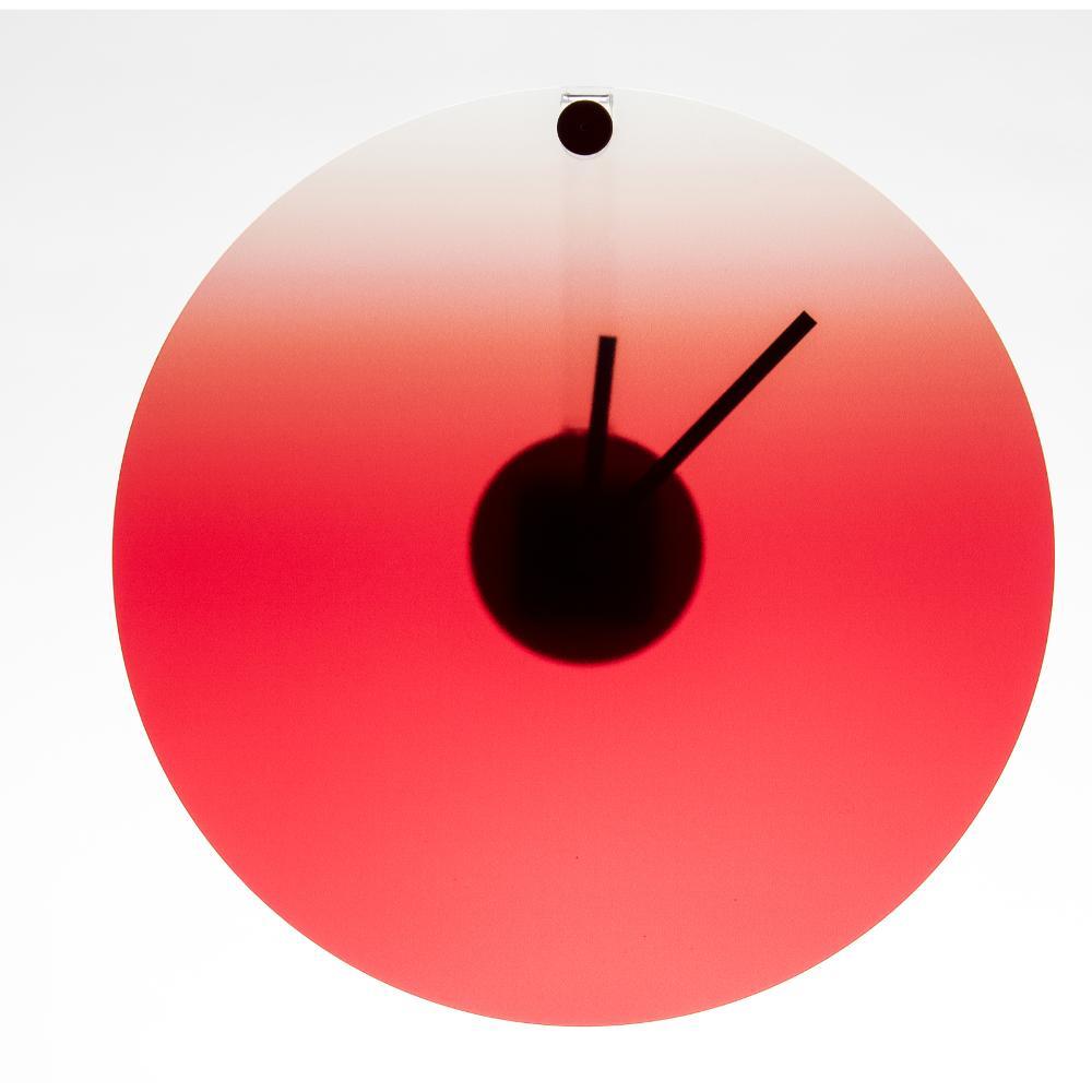 Orologio da parete in plexigas movimento al quarzo HIDE TIME Ø35x4 cm Rosso ...