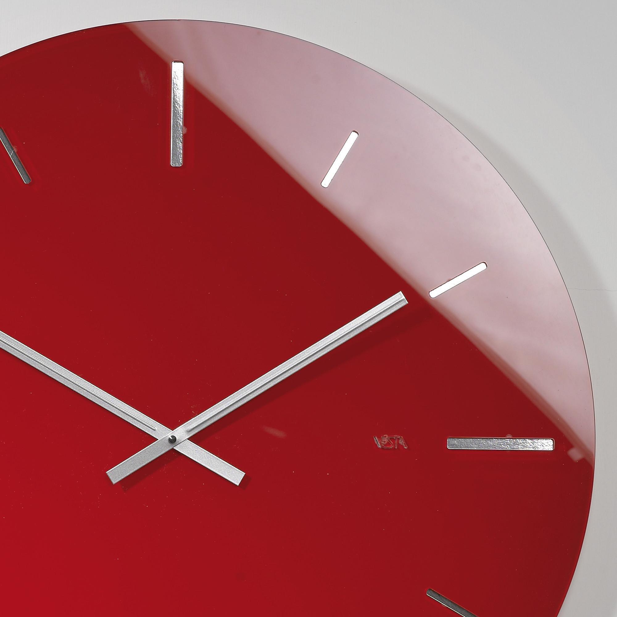 Orologio da muro tondo in plexi bicolore R 2 con fondo argento ...