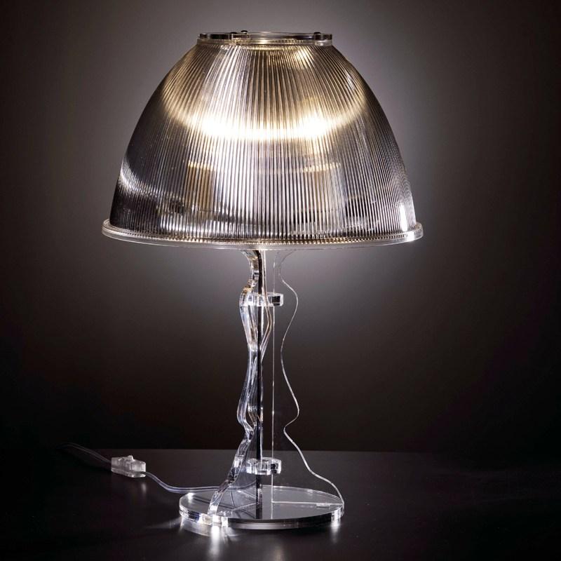 Lampada da tavolo grande lady 40xh60 cm trasparente for Lampada da tavolo grande