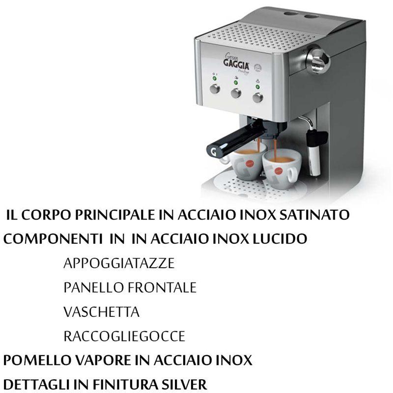 Gaggia Macchina Caffe Gran Prestige Inox Lucido