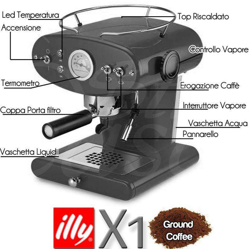 Macchina da caffe X1 MACINATO Espresso Ghisa | illy | Stilcasa.Net ...