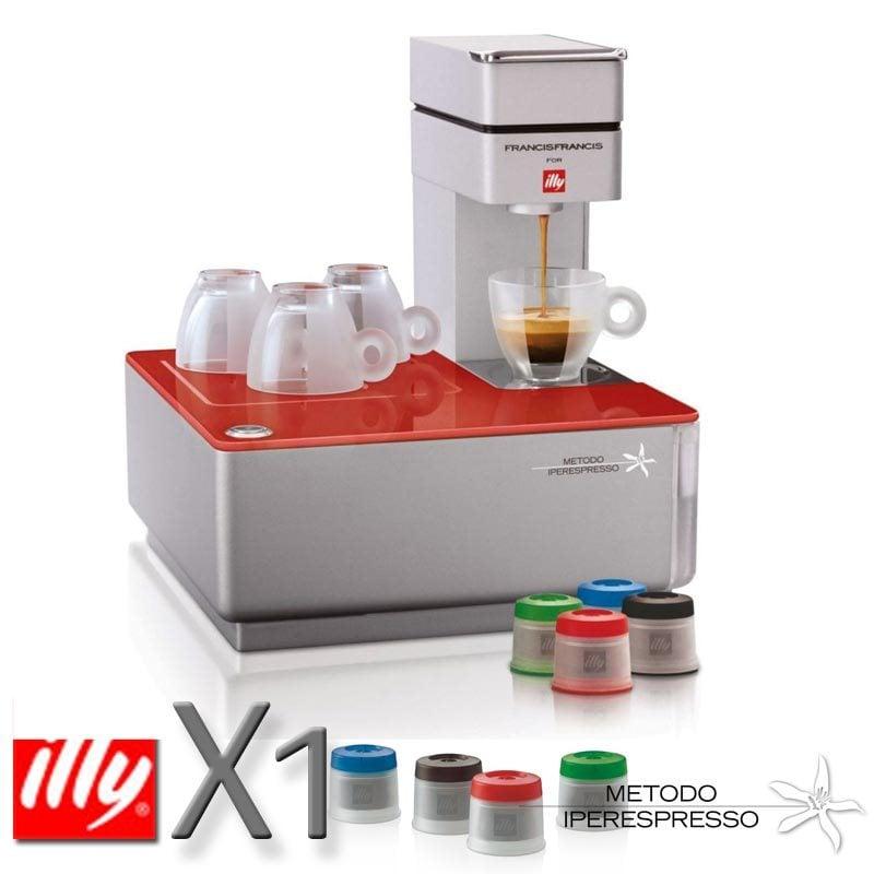 Macchina da caffe a capsule Iperespresso Y1 Red | illy | Stilcasa ...