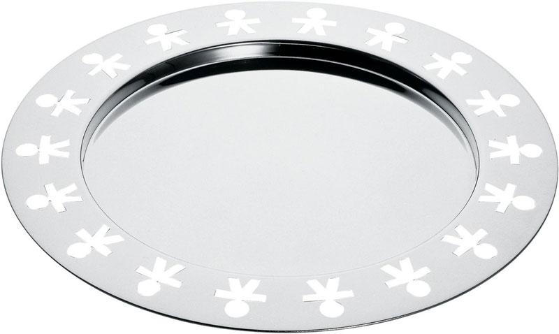 Alessi vassoio ovale girotondo akk25 diametro 58 in acciao for Offerte pentole alessi