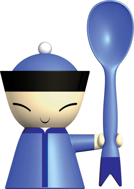 Alessi portauovo con spargisale e cucchiaio in resina for Padelle alessi prezzi