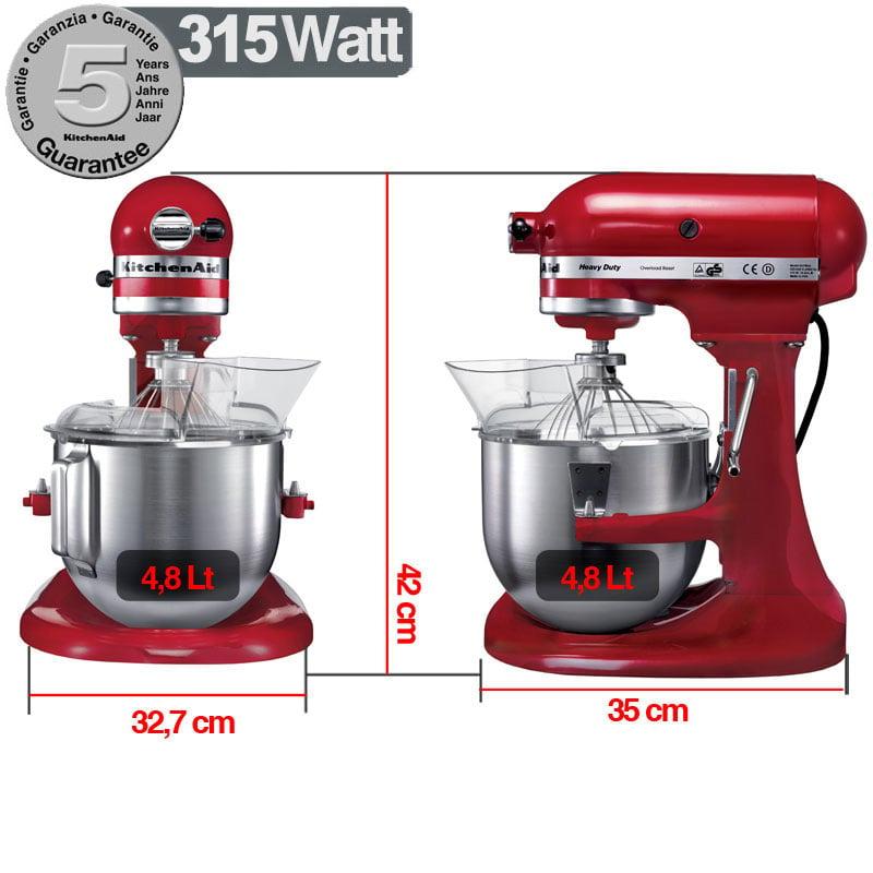 Robot heavy duty kitchenaid 500 w garanzia italiana for Pentole kitchenaid
