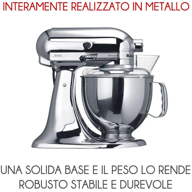 Kitchenaid artisan meringa metallizzato 300w garanzia for Pentole kitchenaid
