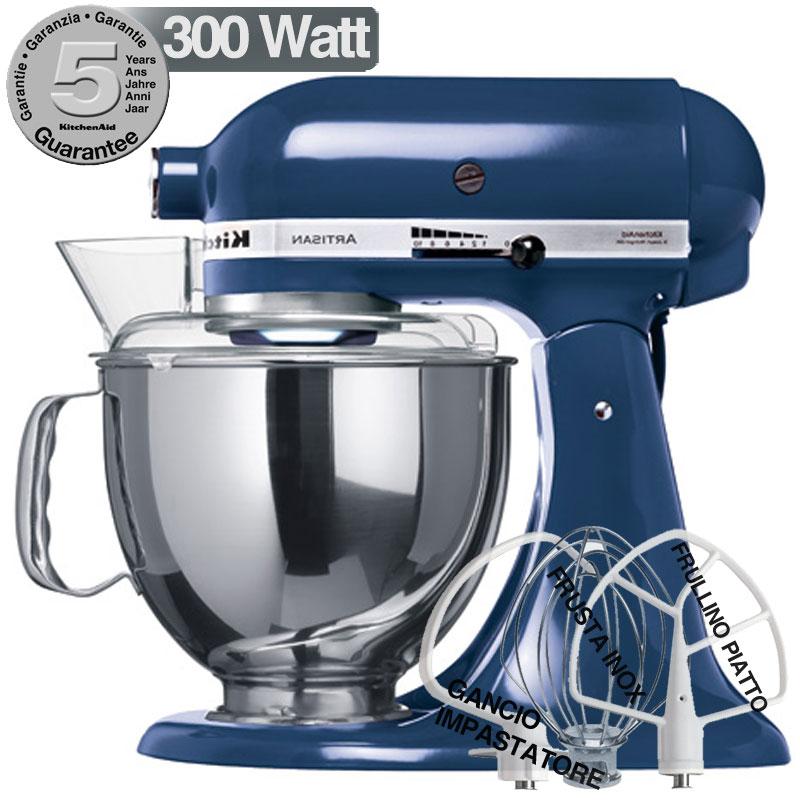 Kitchenaid artisan blu atlantico 300w garanzia italiana for Pentole kitchenaid