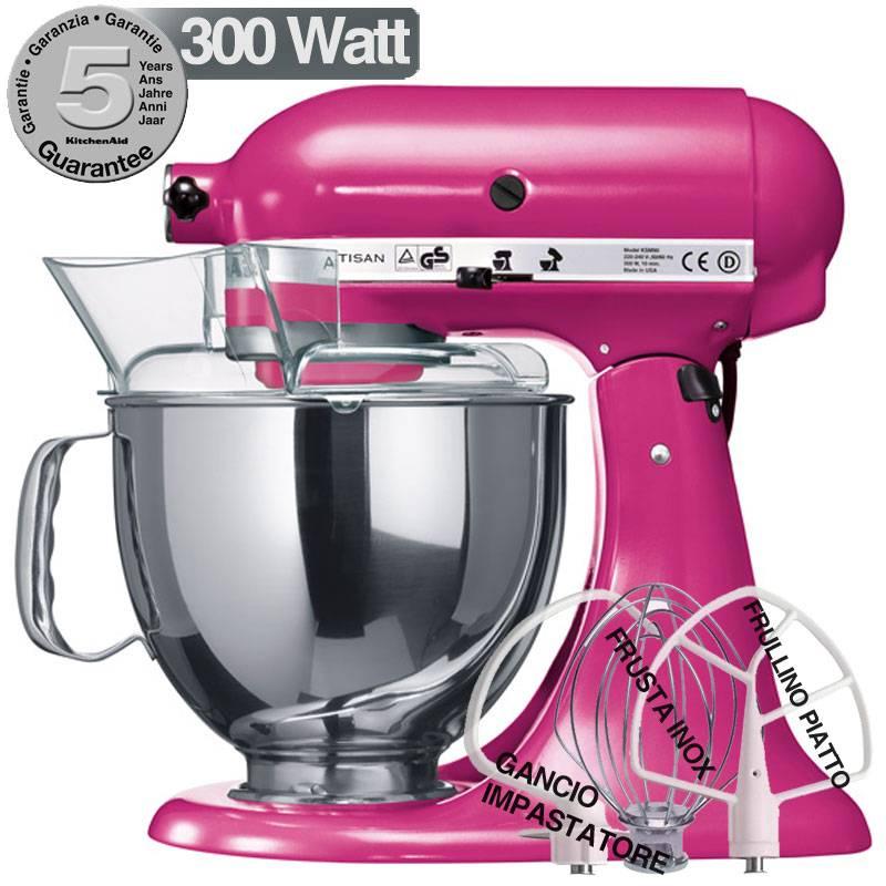 Kitchenaid robot artisan lampone 300w garanzia italiana for Pentole kitchenaid