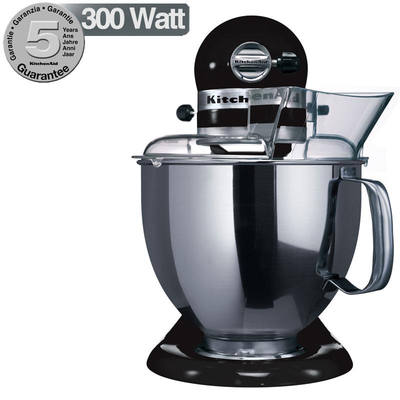 Kitchenaid robot artisan nero onice 5ksm150psb for Pentole kitchenaid