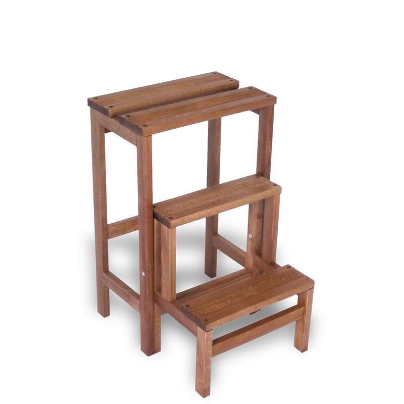 Scaletta a tre gradini ribaltabile e richiudibile susy in - Scale in legno prefabbricate ...