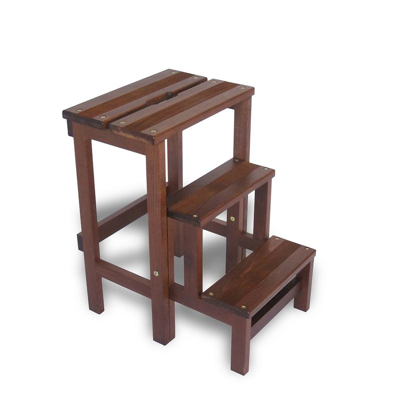 Scaletta a tre gradini ribaltabile e richiudibile lady in for Gradini in legno prezzi