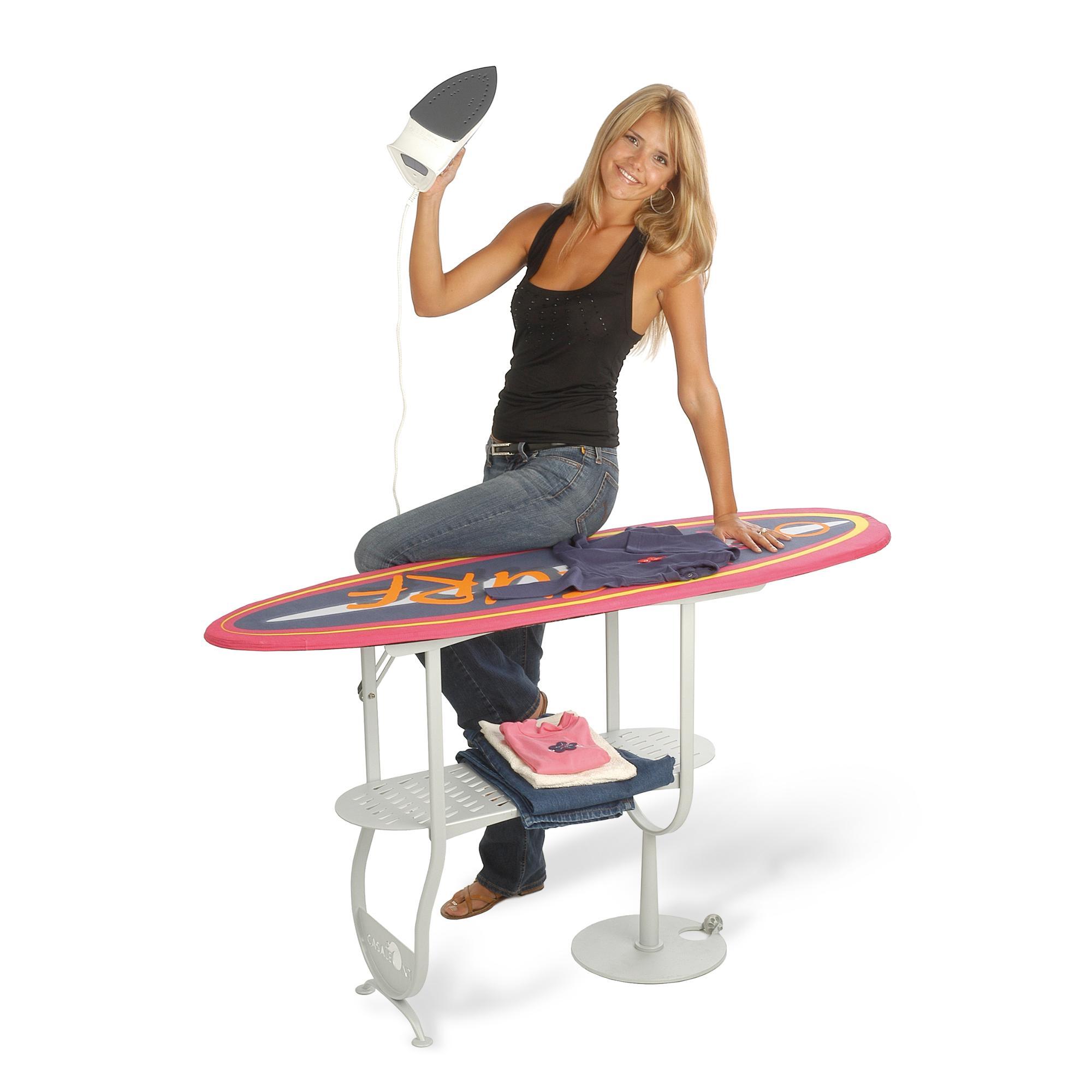 Asse da stiro richiudibile surf con telaio in tubo di for Asse da stiro in legno