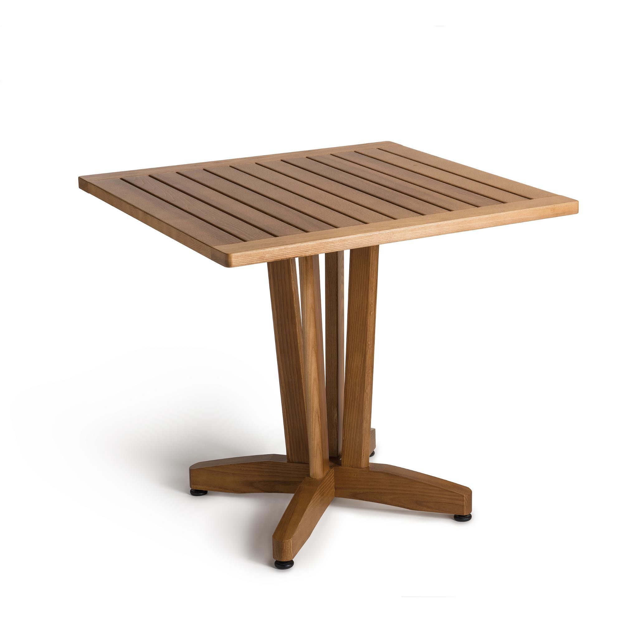 Tavolo quadrato fisso ercole in legno di frassino 80x80h73 for Tavolo legno frassino