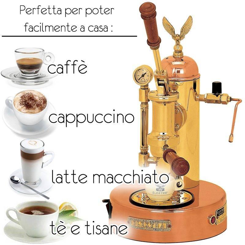 Macchina da caffe a leva rame e ottone elektra srl - Macchina caffe professionale per casa ...