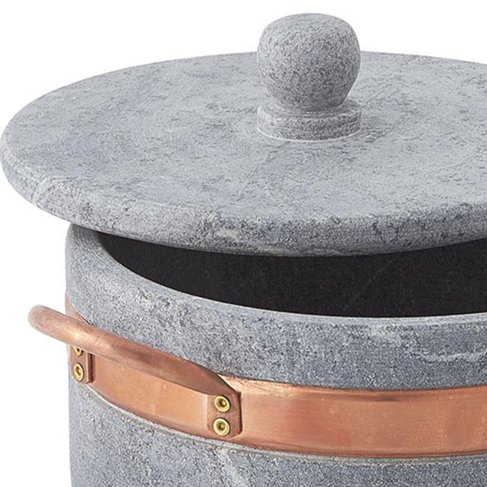 Casseruola in pietra ollare diametro 16 2 manici con - Cucinare con la pietra lavica ...