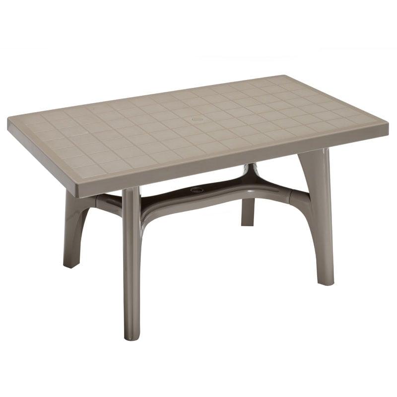 Tavolo da esterno rettangolare 100percento resina compound inalterabile super resistente - Tavoli in resina da esterno ...