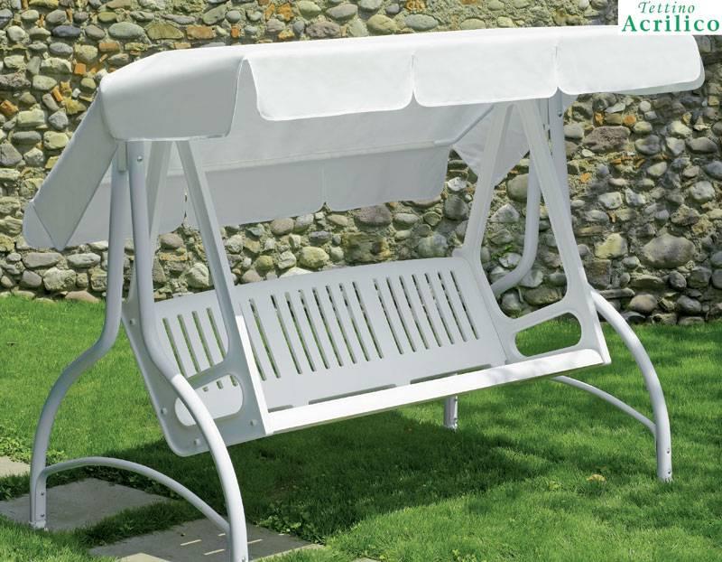 Dondolo misto resina 3 posti bianco scab giardino s p a for Dondolo da giardino leroy merlin