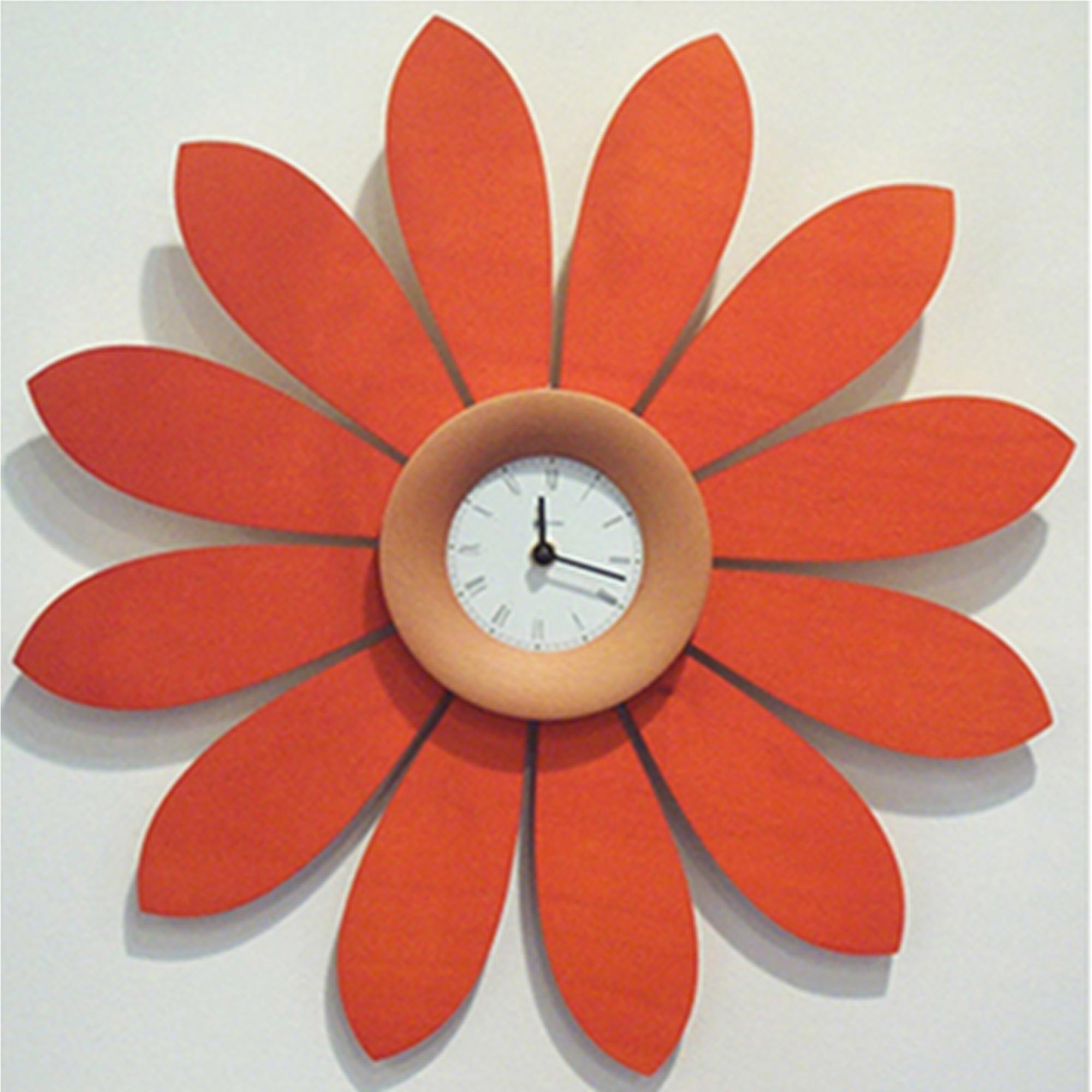 Orologio da parete Margherita Ø 50cm betulla , corona In Faggio ...