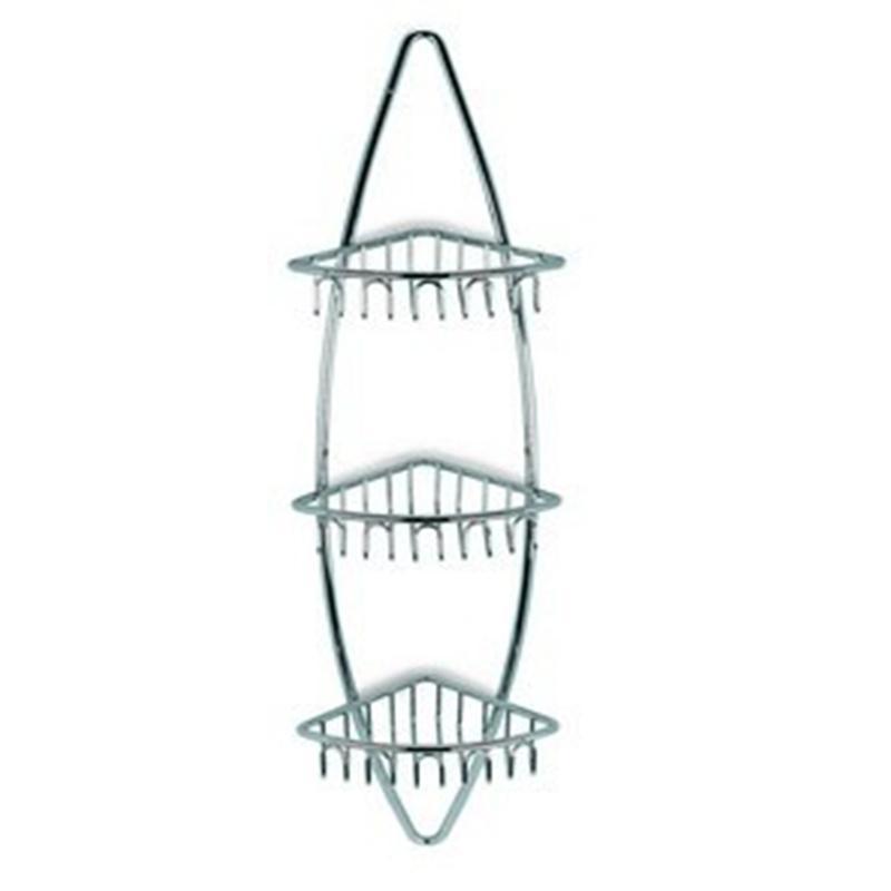 Angolare per doccia a tre ripiani 80 5x16x22 completo di stop di fissaggio ibb spa stilcasa - Accessori doccia portaoggetti ...