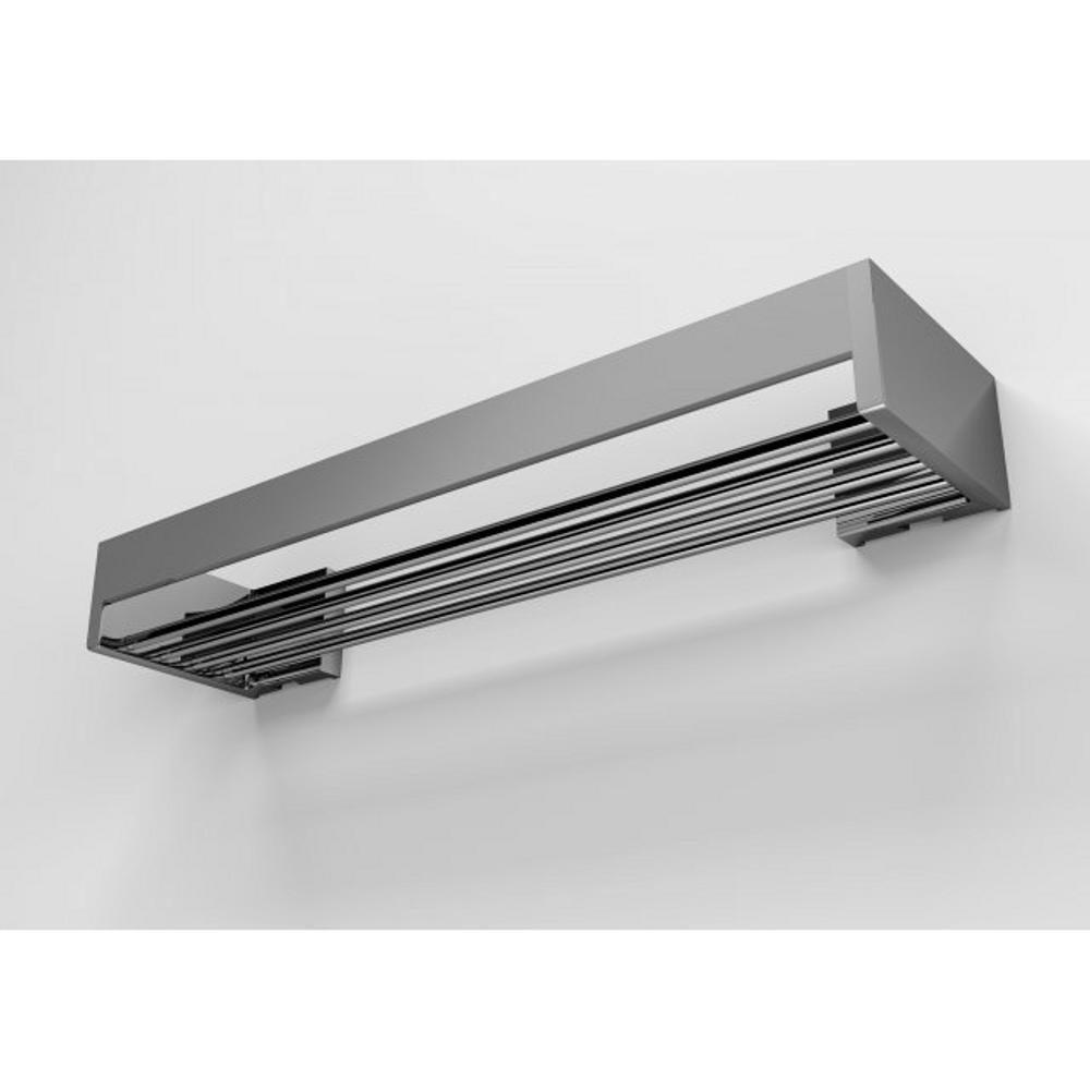 Mensola doccia bagno cromo h6x12x30cm fissaggio adesivo 3 - Mensola acciaio bagno ...