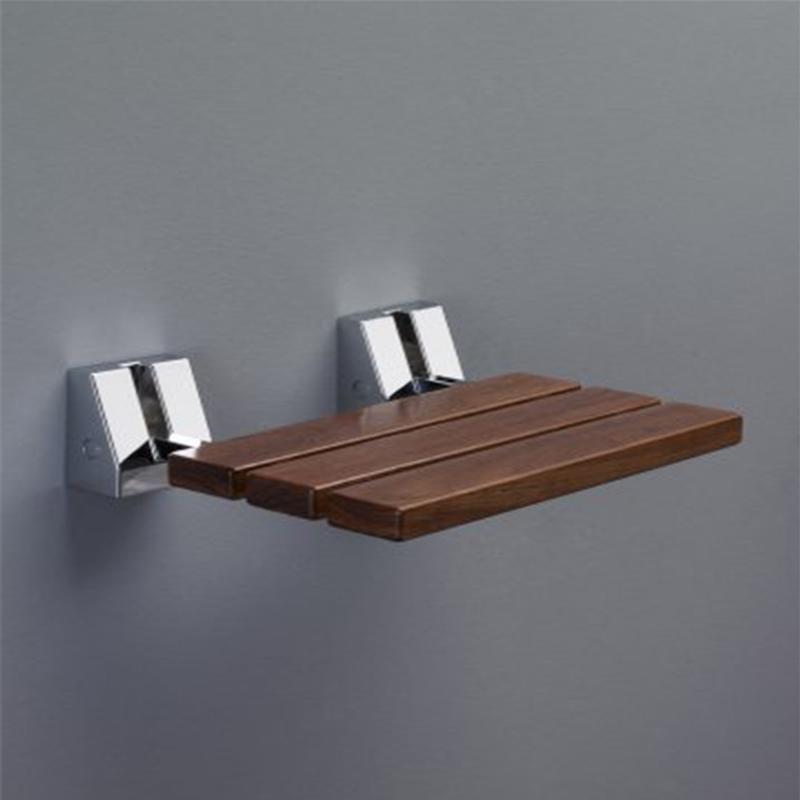 Sgabello sedile doccia ribaltabile 34x40xh11 cm in acciaio lucido ...