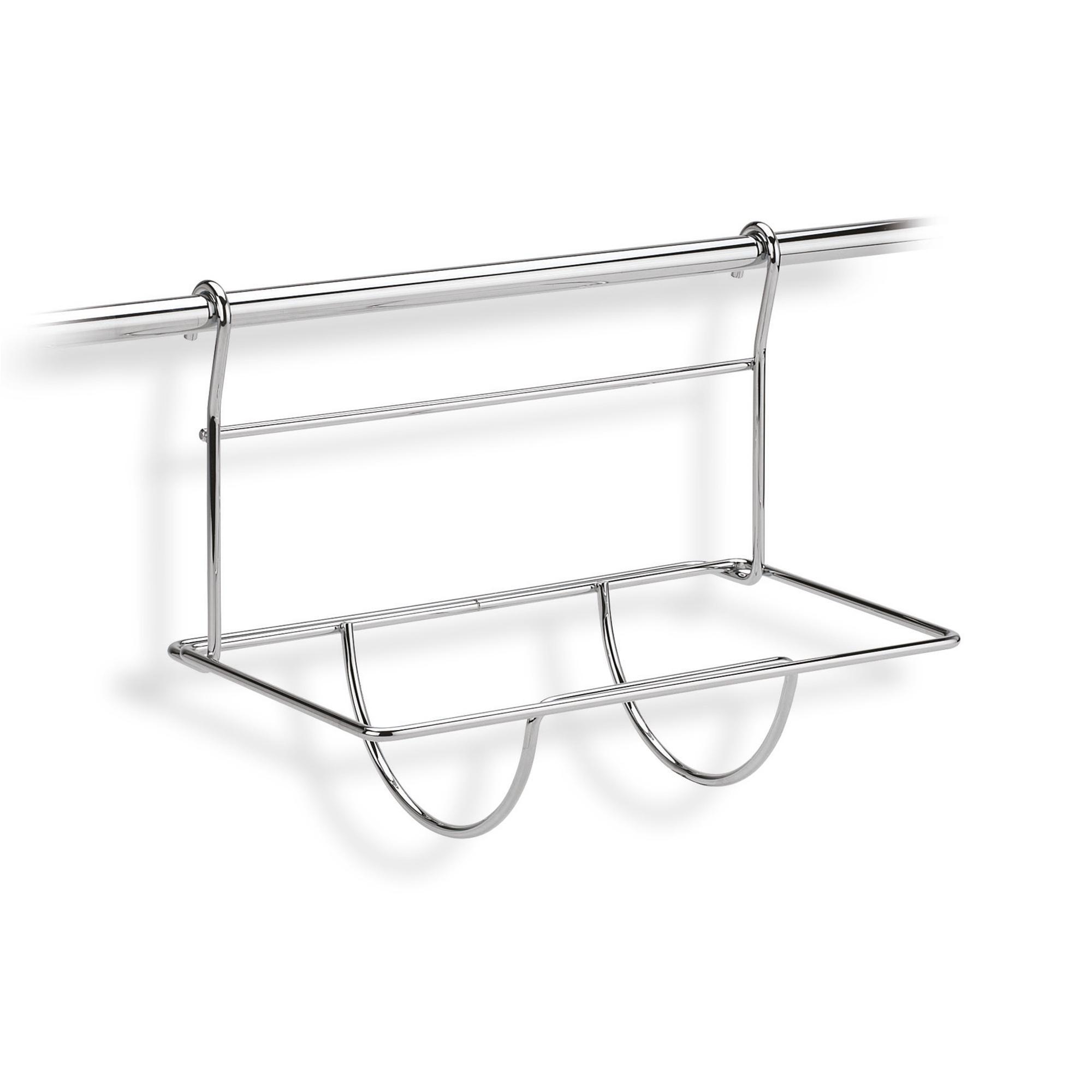 Portascottex inox 30x20xh24 cm applicabile alla barra da - Porta scottex da parete ...