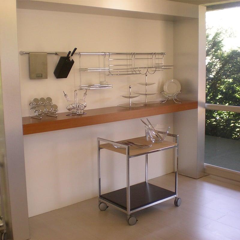 Barra da cucina portautensili lunghezza 120 cm diametro 1 for Utensili da cucina in acciaio