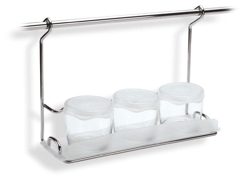 Mensola con barattoli team applicabile alla barra da - Mensola porta piatti ...