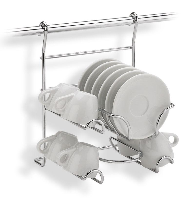 Supporto portatazze applicabile alla barra da cucina - Barra portautensili cucina ...