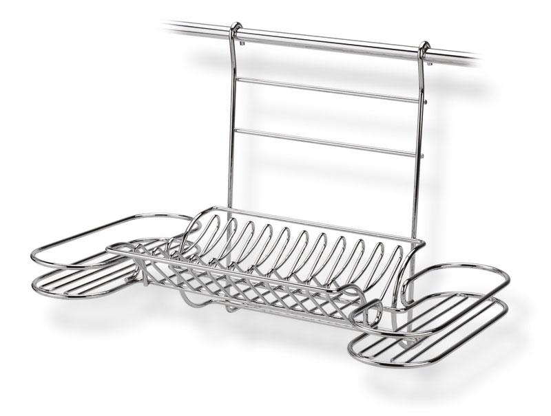 Porta piatti bicchieri applicabile alla barra da cucina - Barra portautensili cucina ...