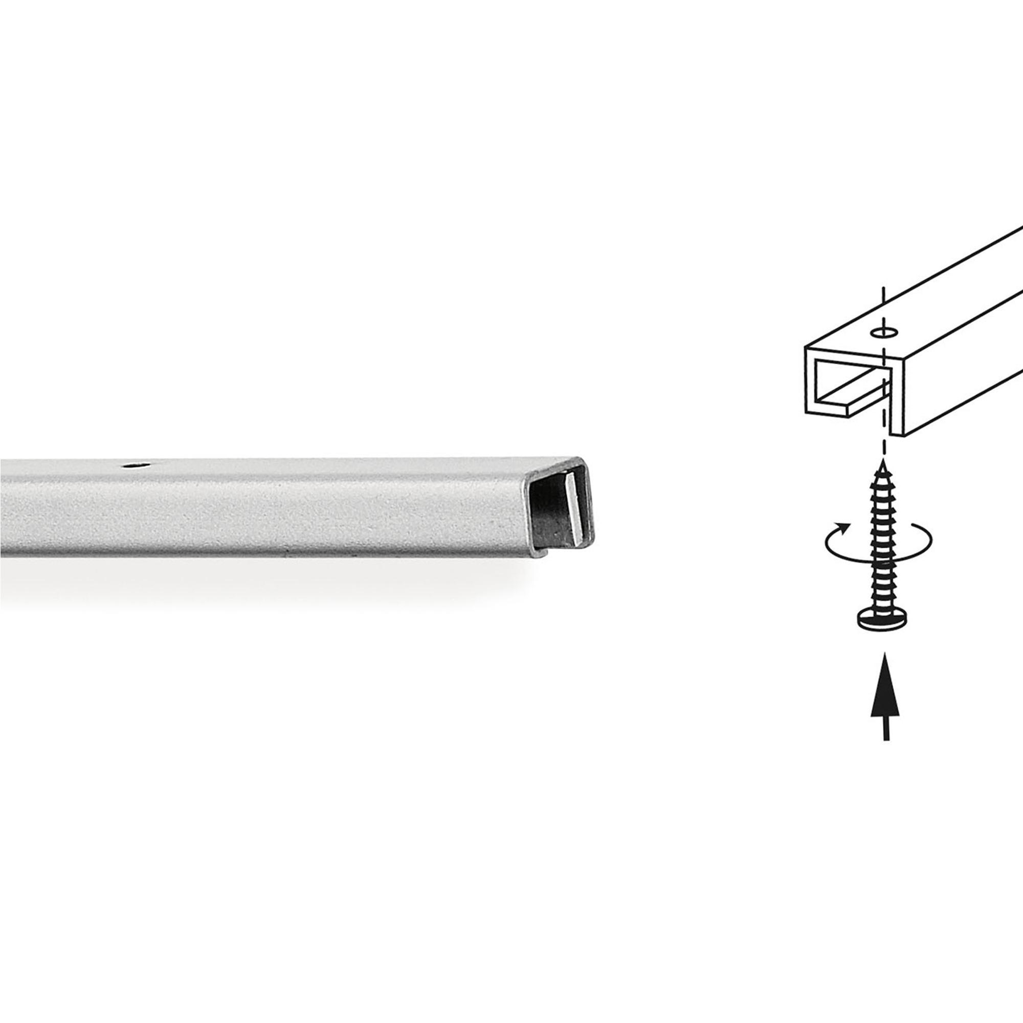 Barra portautensili tubo quadro cm linea quadro - Barra portautensili cucina ...