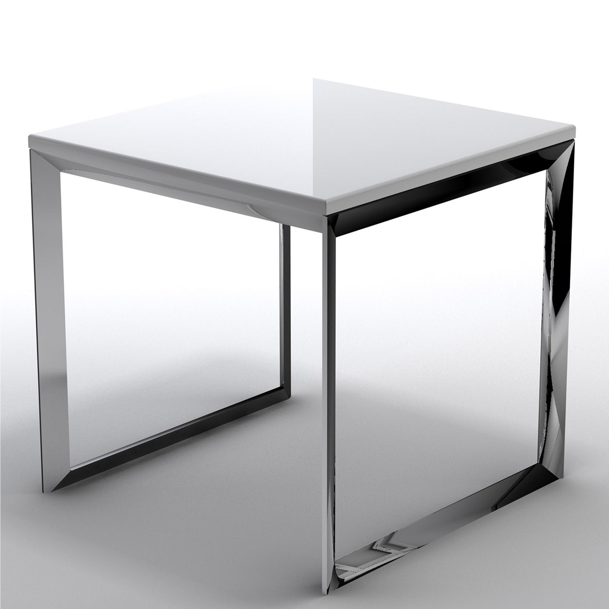 Tavolino basso da salotto con piano in MDF 50x50xh50 cm bianco  IBB Spa  Stilcasa.Net ...