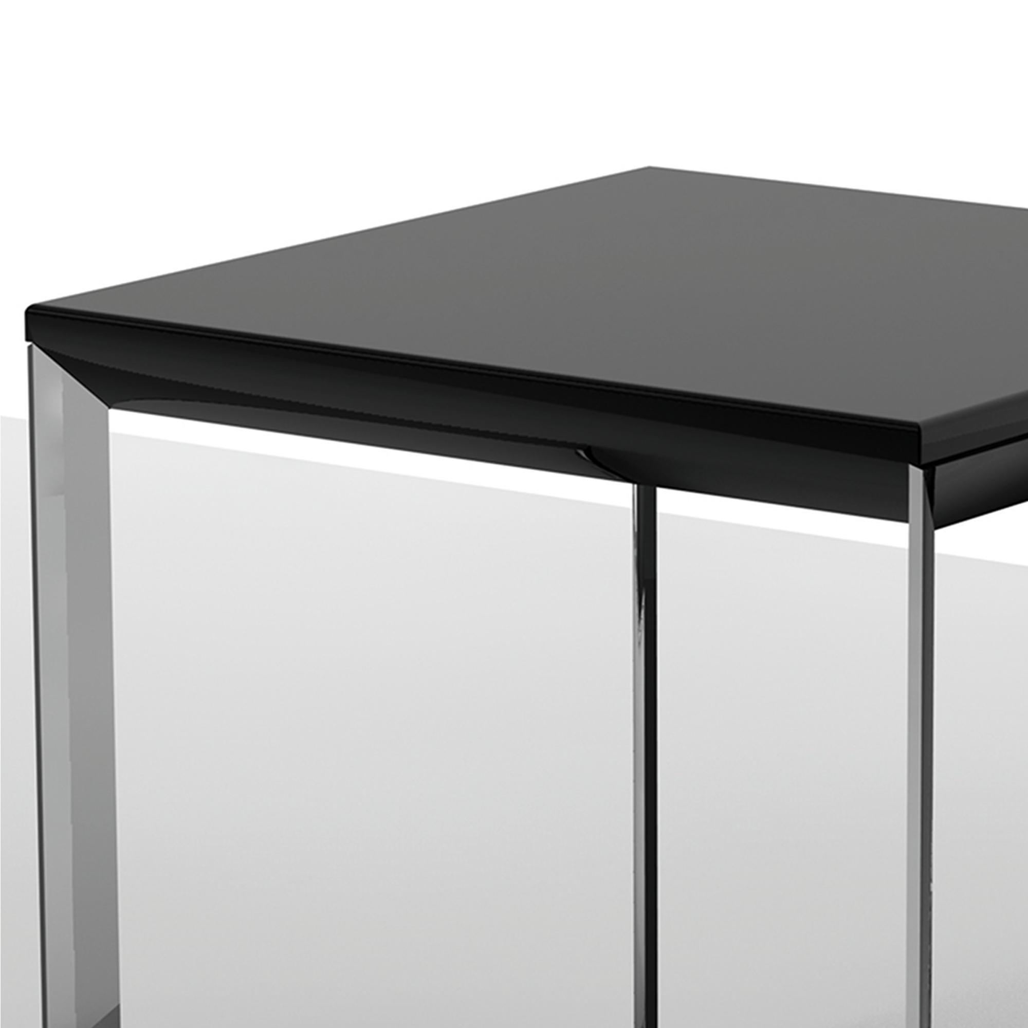 Tavolino basso da salotto con piano in MDF 50x50xh50 cm Nero   IBB ...