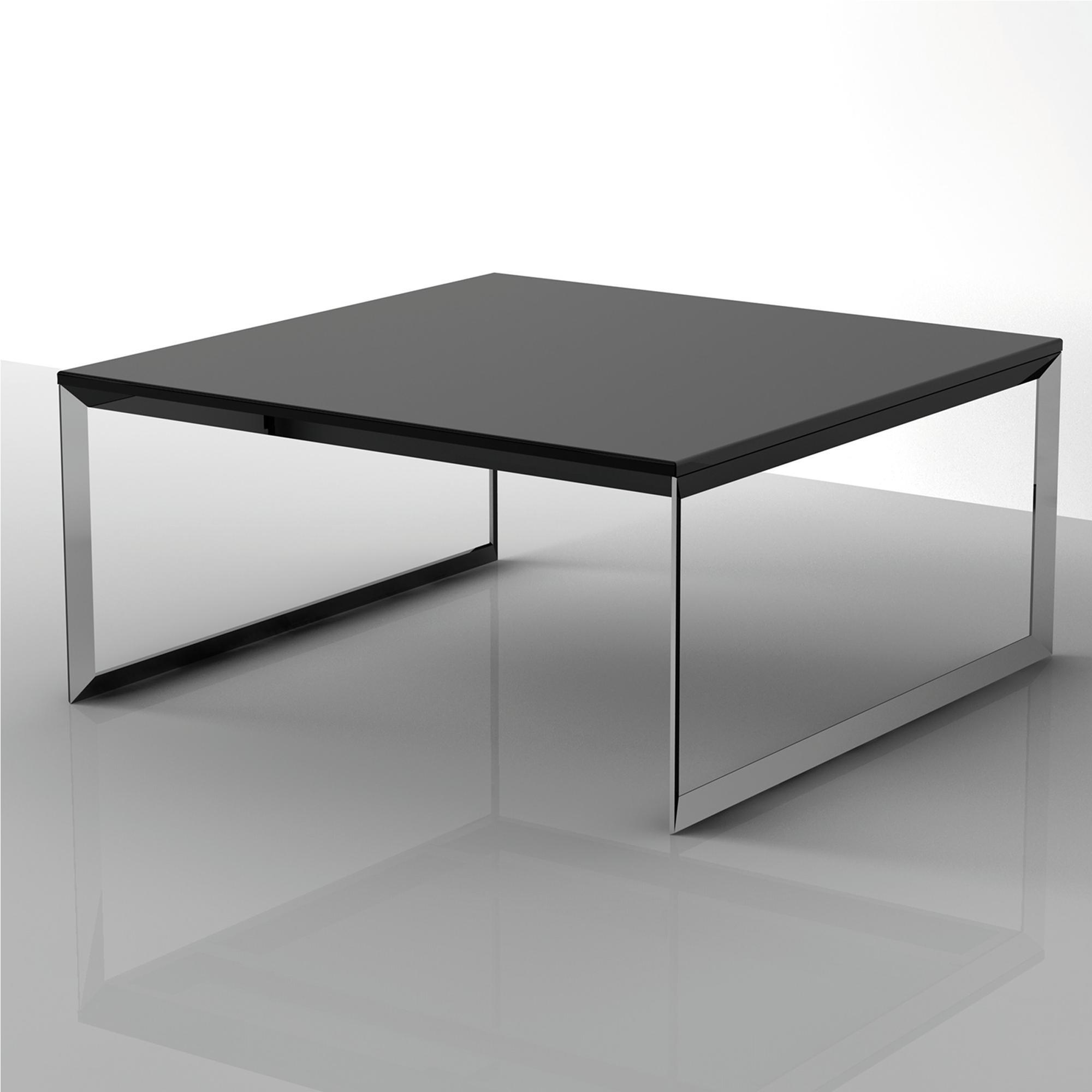 Tavolino Basso Per Salotto.Tavolino Basso Da Salotto Con Piano In Mdf 90x90xh40 Cm Nero Ibb Spa