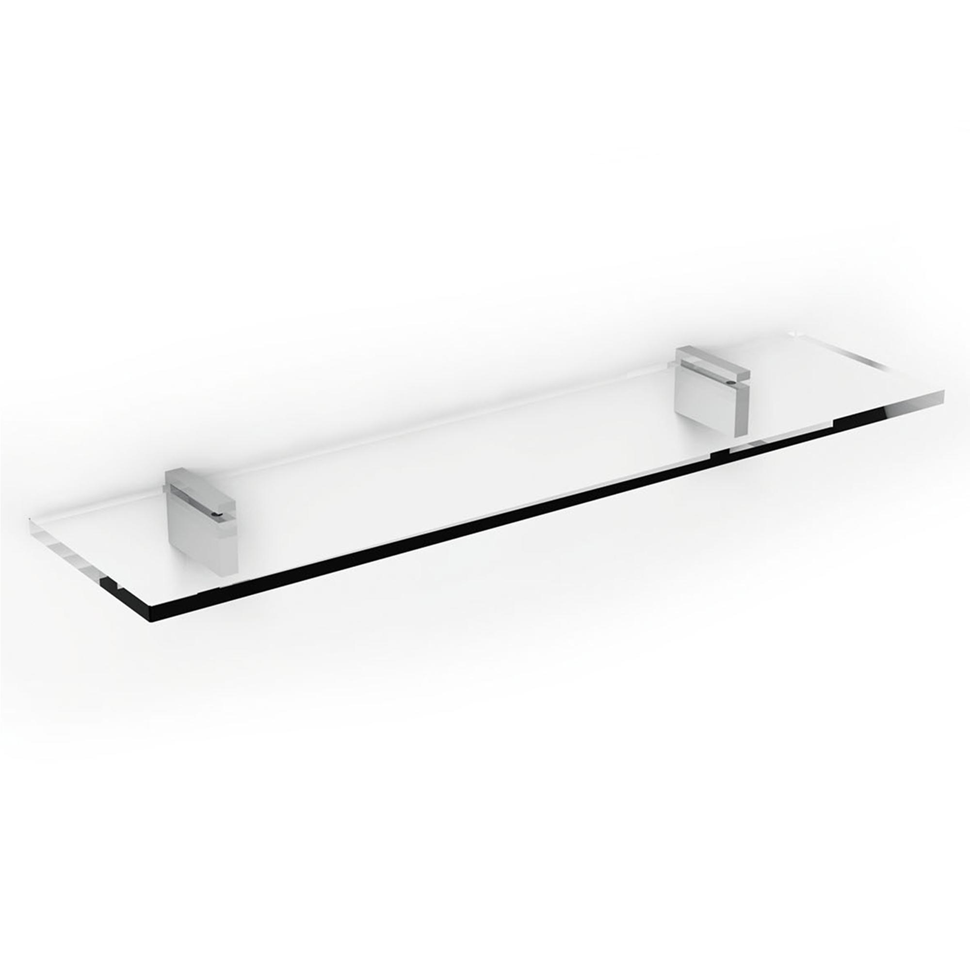 Mensola lapiana cm 60 in acciaio inox lucido e vetro ibb - Mensola acciaio bagno ...
