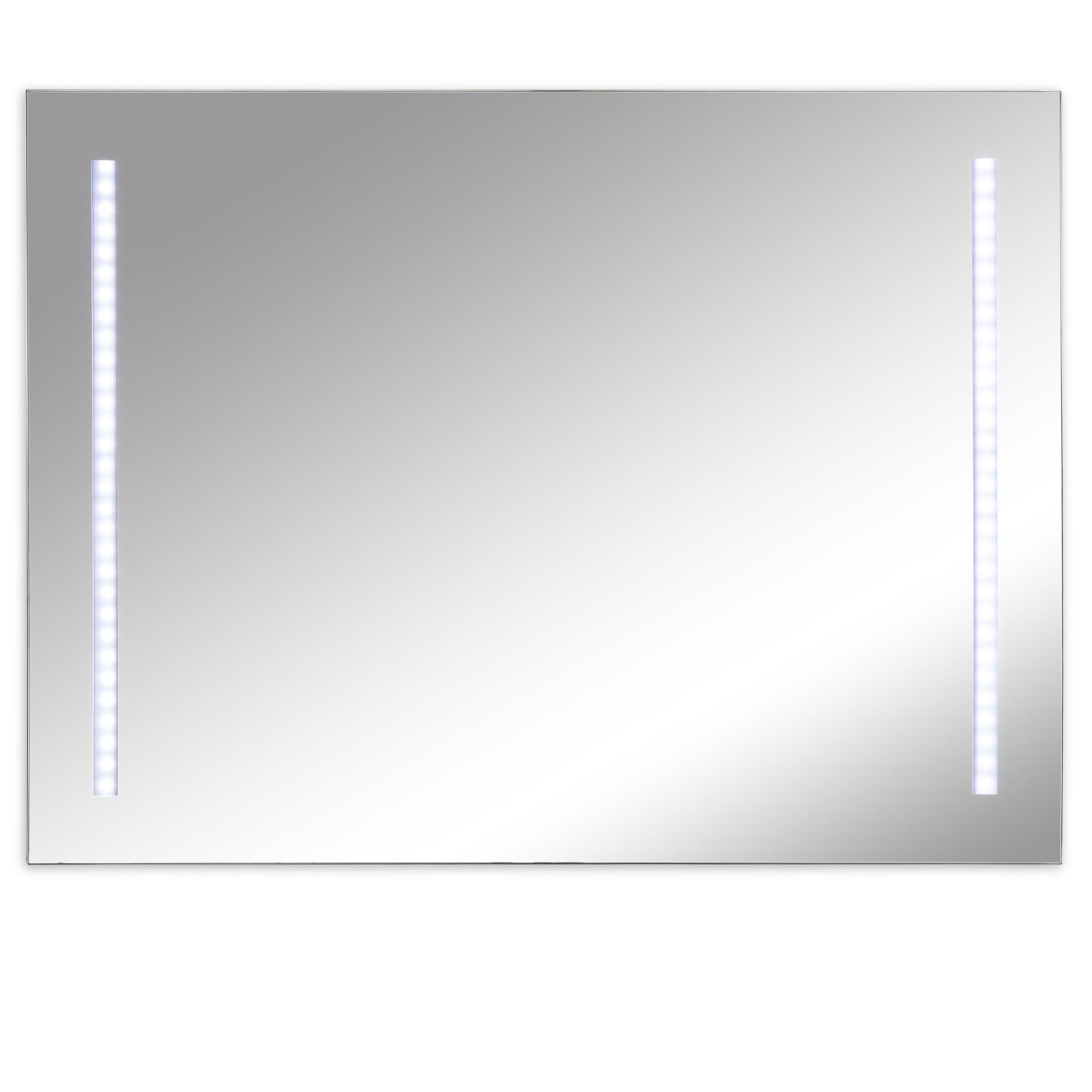 Immagini Specchi Da Bagno.Specchi Da Bagno Con Due Luci A Led 80x60x0 4 Cm Spessore Montaggio Orizzontale Verticale Ibb Spa