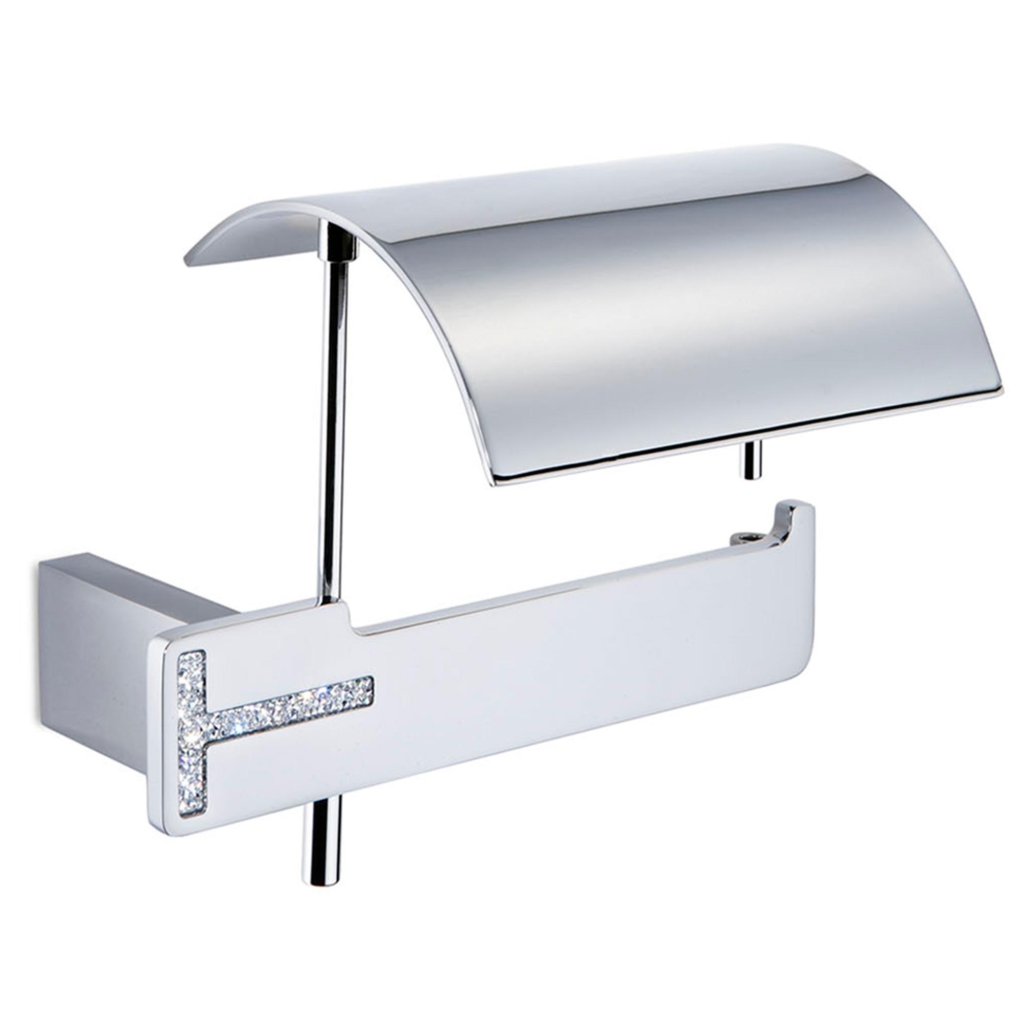 Portarotolo da bagno con coperchio 17 20x12 60xh11 20 cm - Portarotolo bagno ...