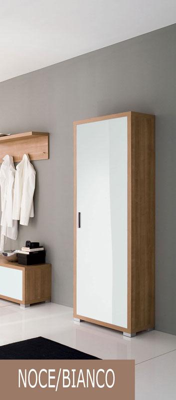 Armadio guardaroba noce specchio longo stilcasa net for Specchio noce