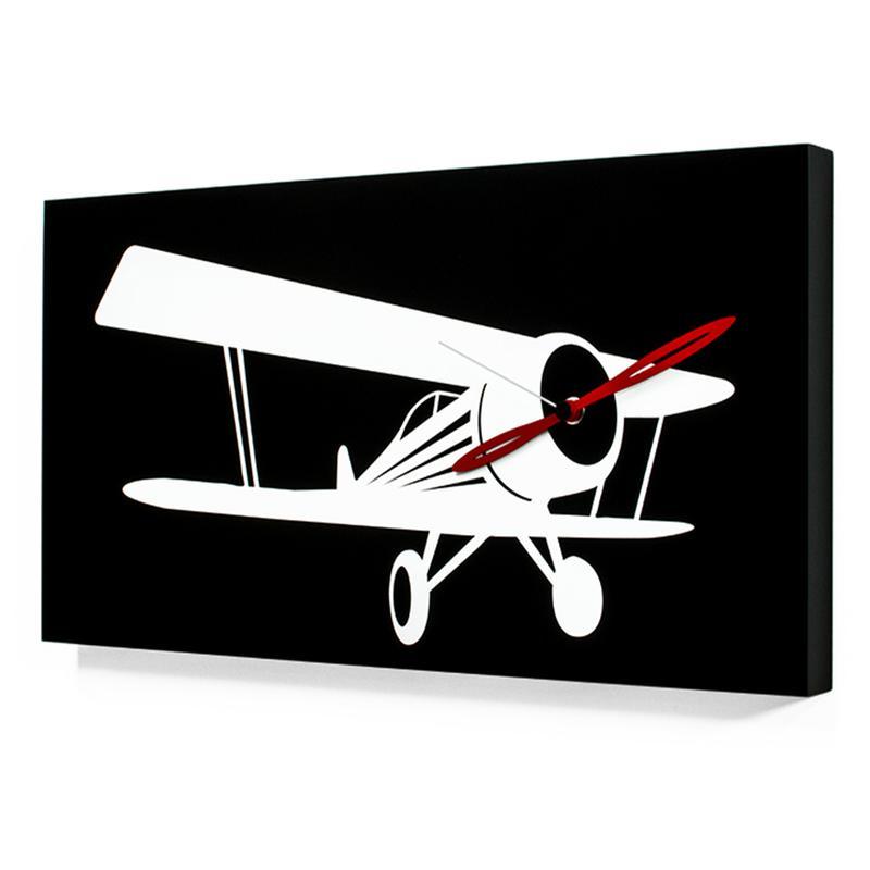Orologio da parete in Legno Flyer Waco movimento al quarzo a batteria  Proge...