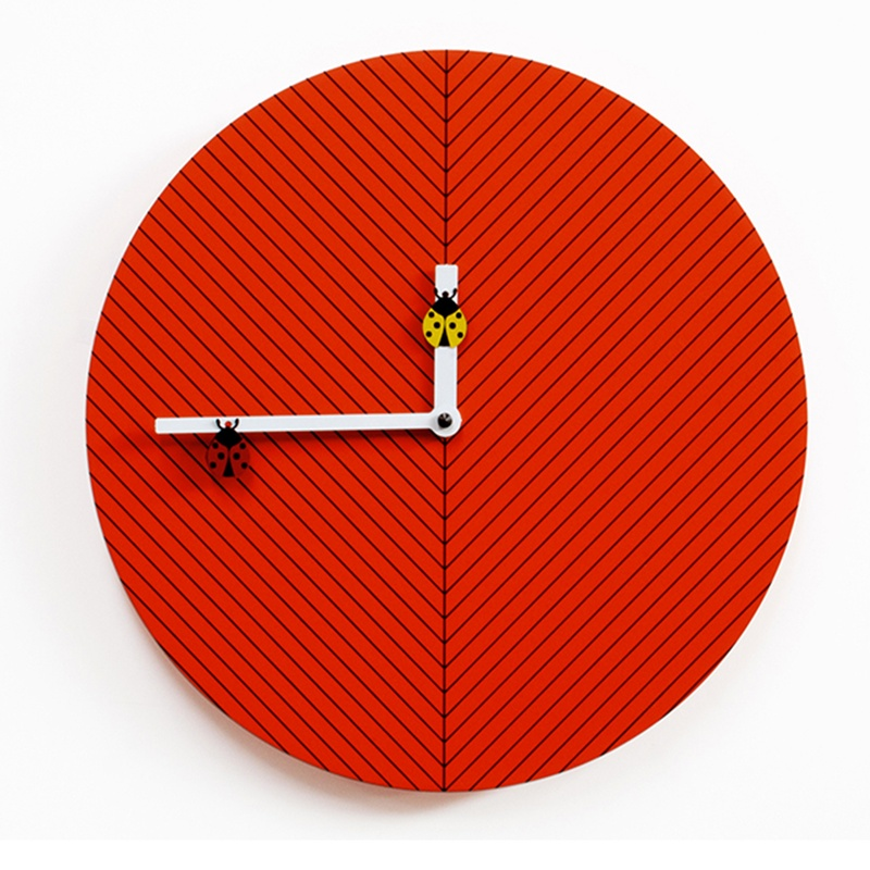 Orologio da Parete in legno Time2bu Movimento al quarzo a batteria.  Progett...