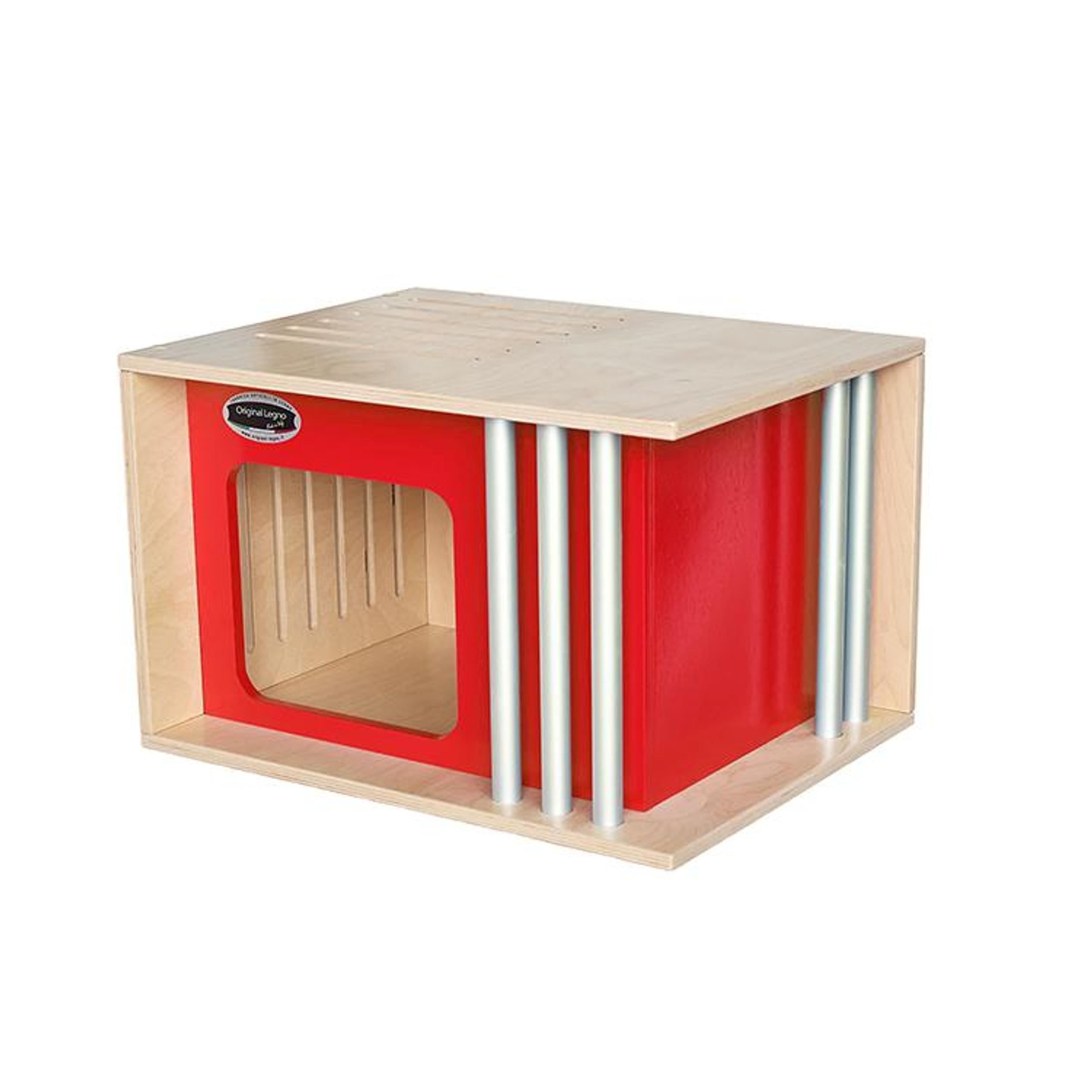 Cuccia Gatto Fai Da Te cucce in legno per interno per cani, gatti e conigli iride 50x38xh32 cm -  taglia l peso massimo di 7kg rossa | original legno