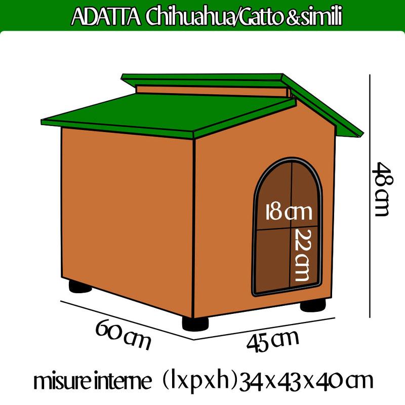 Cuccia per cani gatti chihuahua gatto e simili in legno for Cucce in coibentato