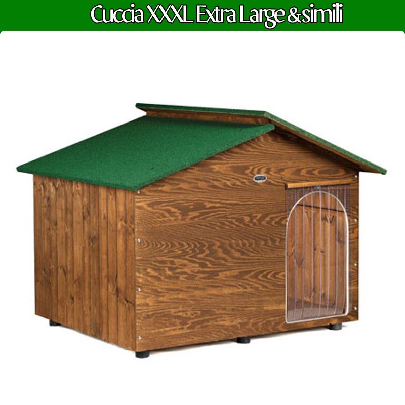 Cuccia per cane in legno extra large con tettino for Cucce in coibentato