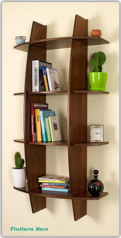 Libreria In Legno Noce.Libreria In Legno Mod Fantasia Noce 75x30xh150 Cm Original Legno
