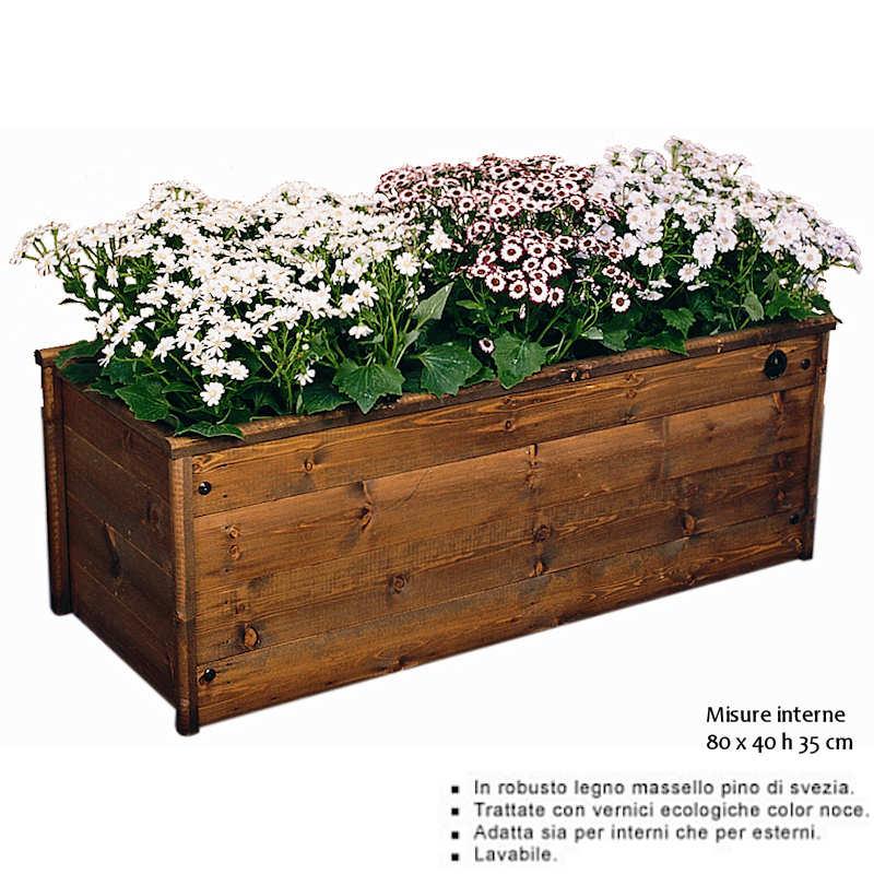Fioriera in legno massello di svezia orchidea 80x40 for Obi addobbi natalizi