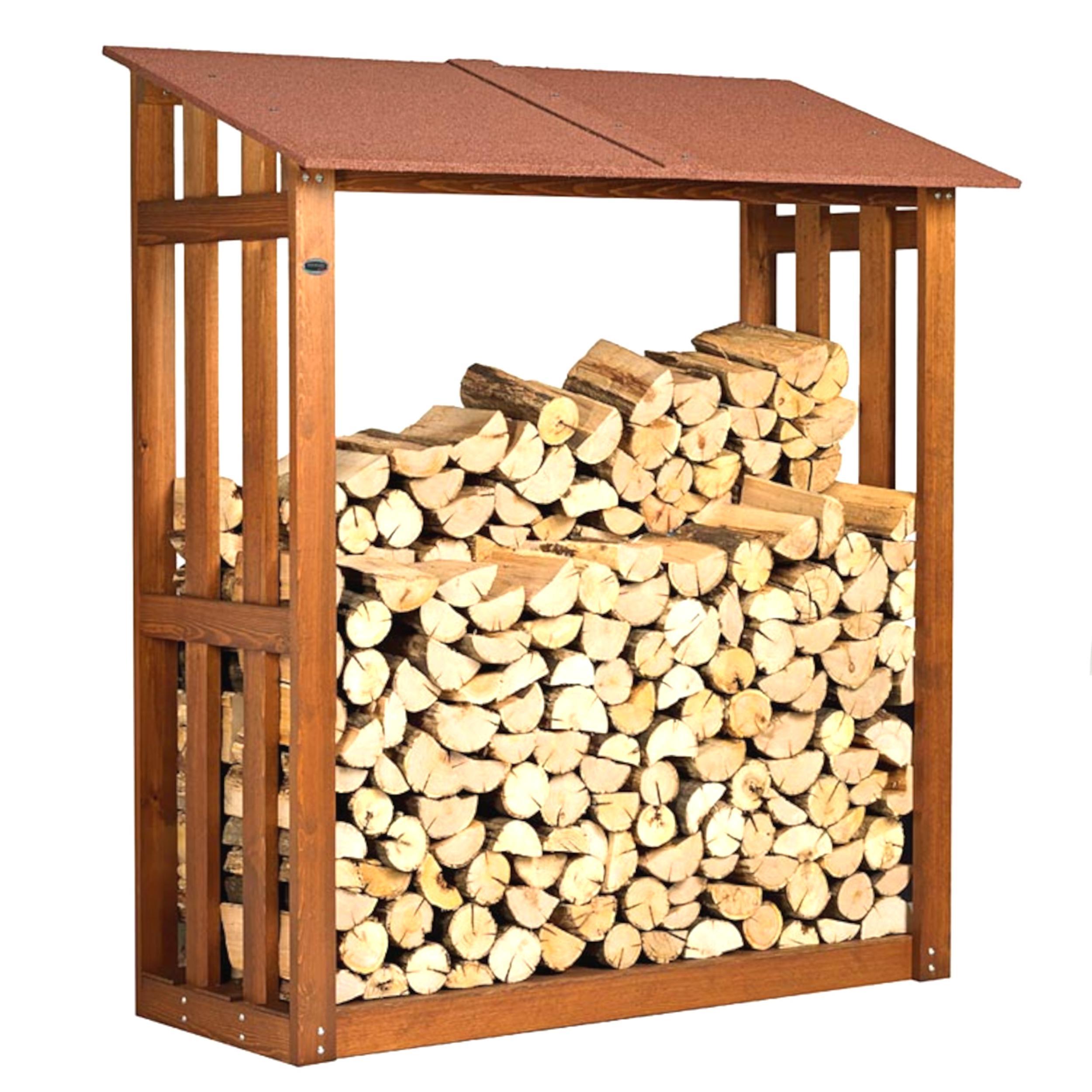 Portalegna legnaia in legno con tettino h 180 original for Leroy merlin legnaia