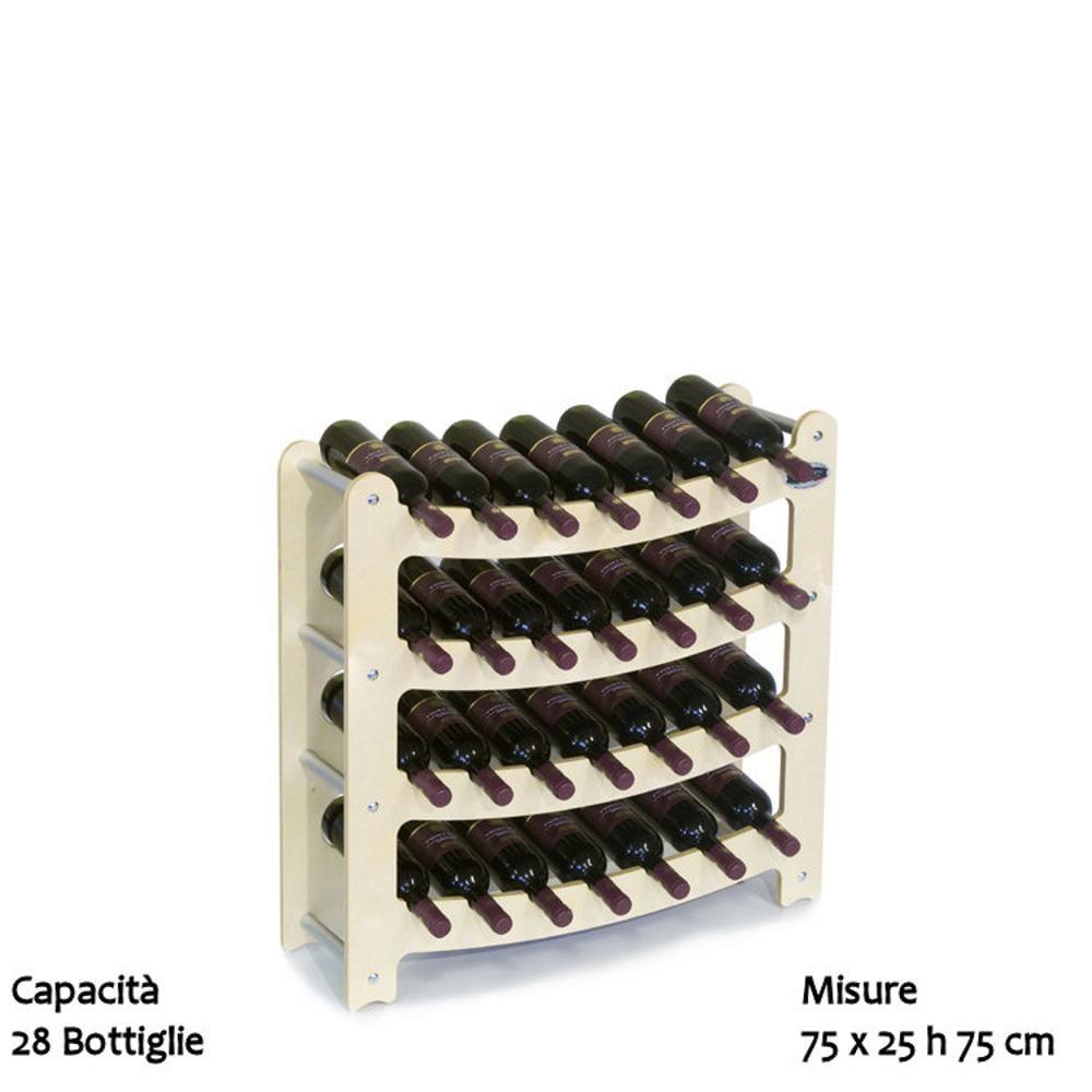 Cantinetta portabottiglie in legno componibile syrah 28pz - Portabottiglie vino in legno ...