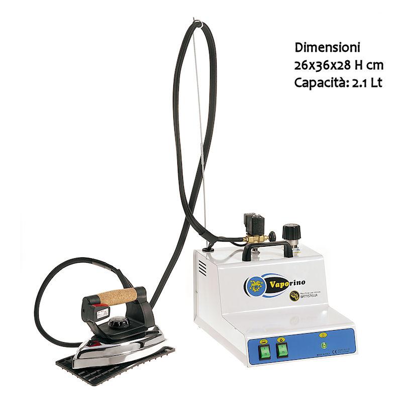 Ferro da Stiro professionale Vaporino bianco maxi 2,3 Lt 3 Ore di stiratura con ferro valvola regolabile.